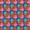 multicoloured houndstooth fabric