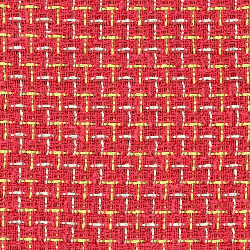 red and yellow check fabric