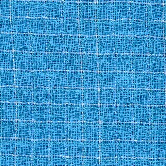 shiny blue fabric
