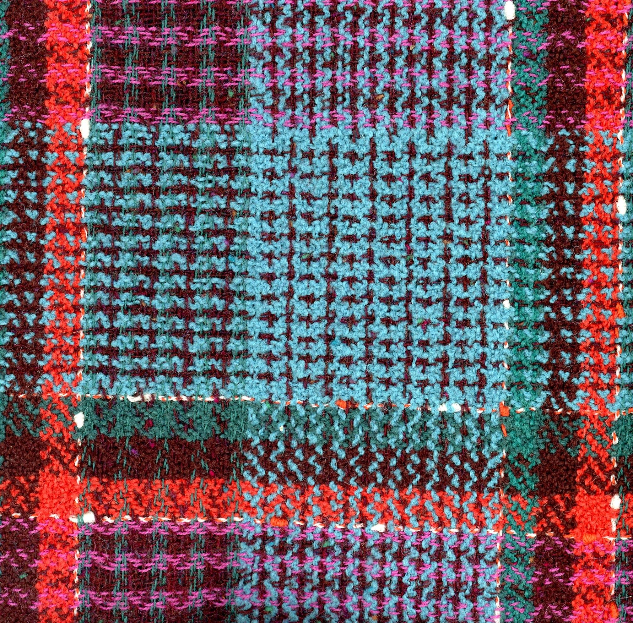 multicoloured check tweed