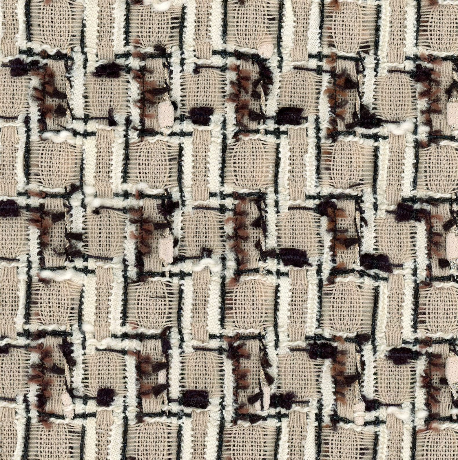 brown couture fabric
