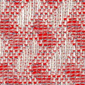 red zig zag fabric