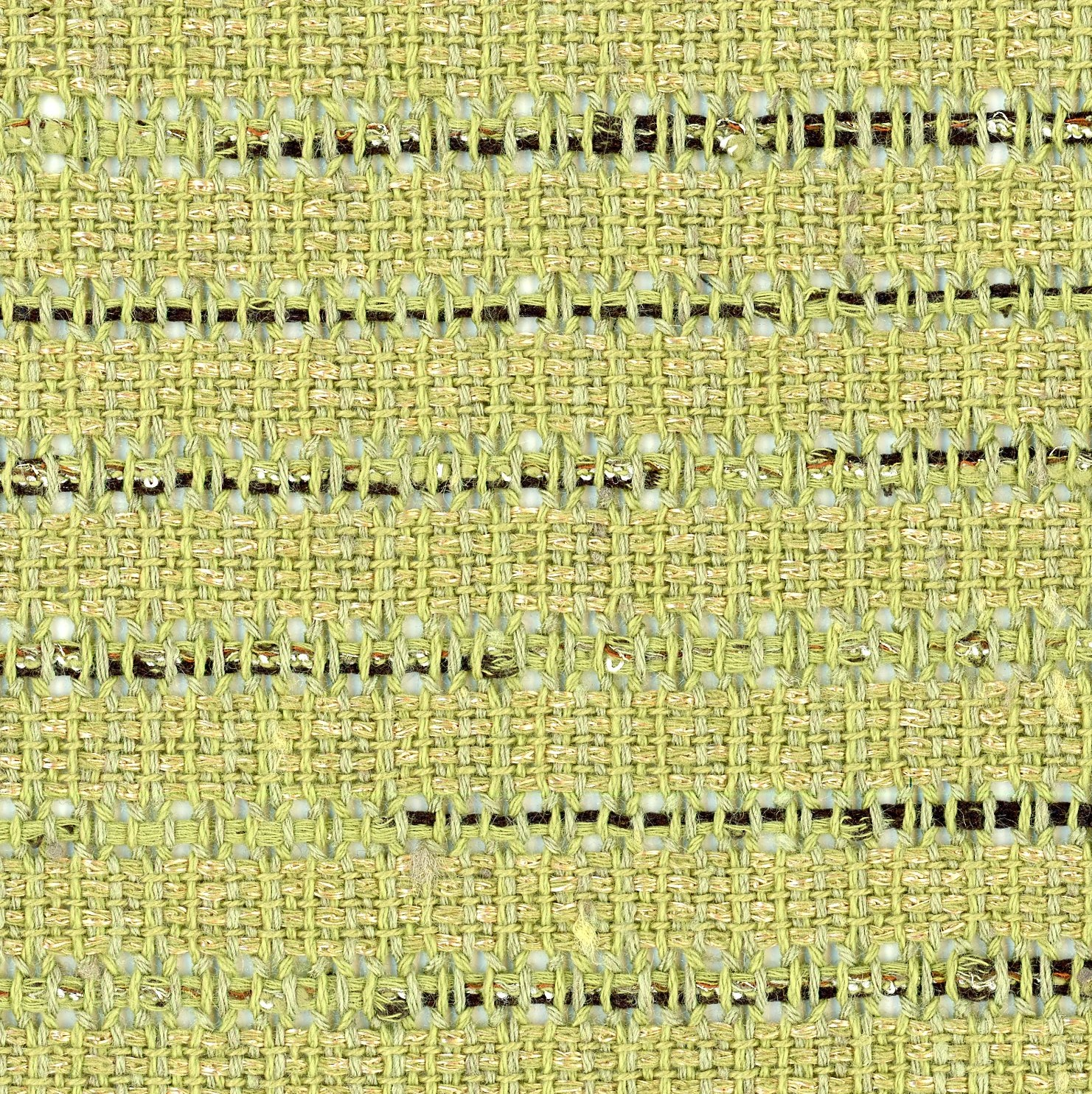 green open weave fabric