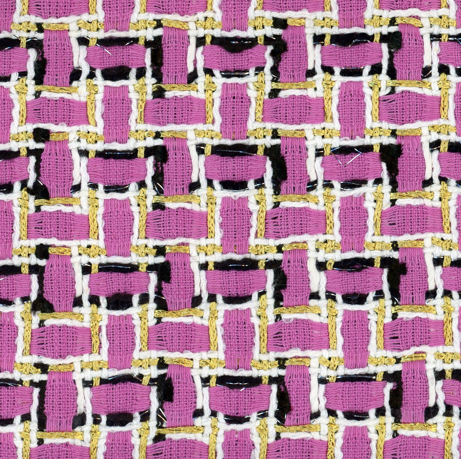 pink and metallic gold fabric