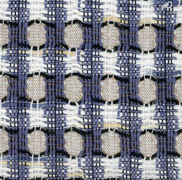 blue honeycomb fabric