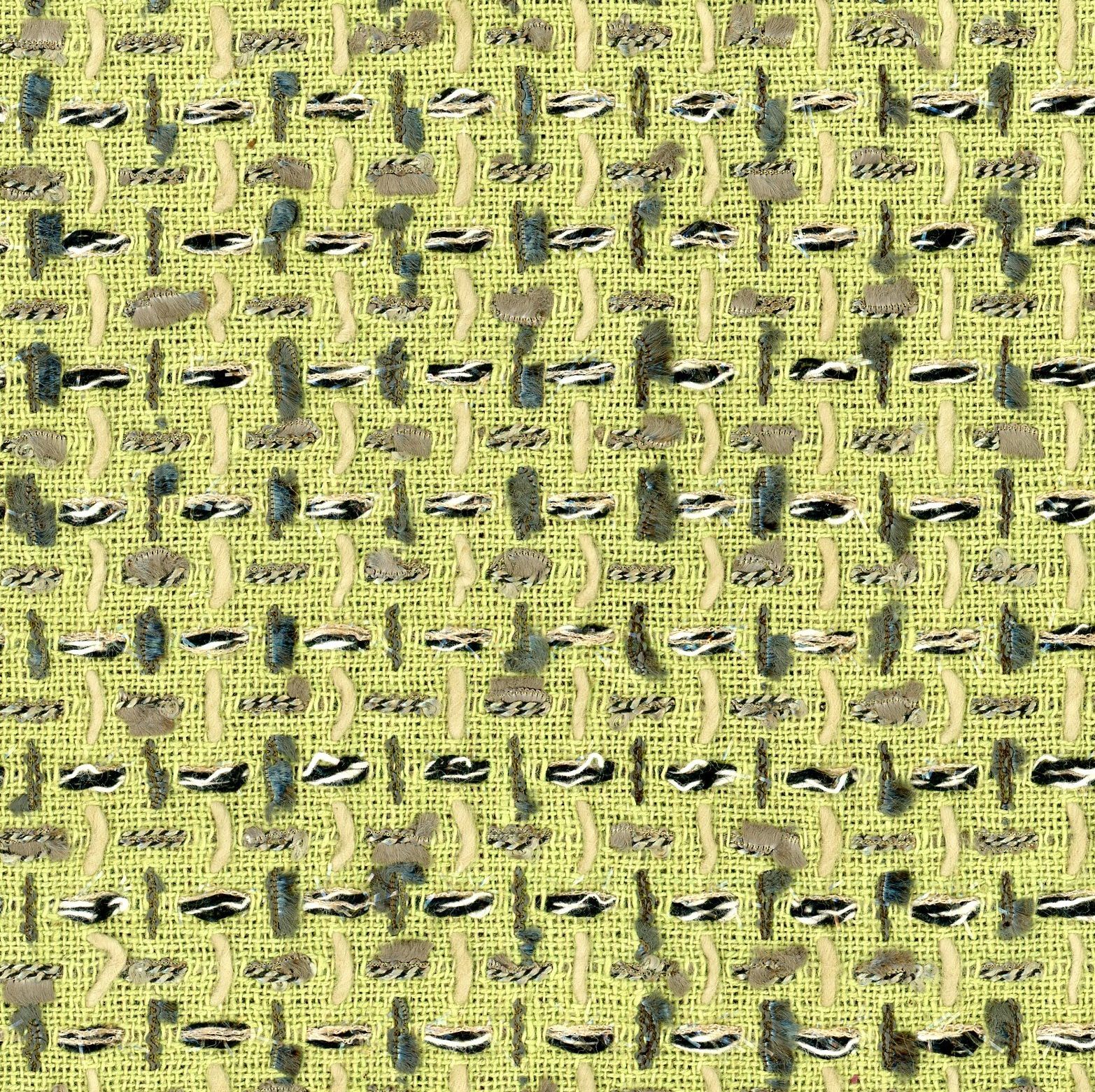 green couture tweed