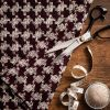 maroon houndstooth fabric