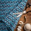 blue couture tweed