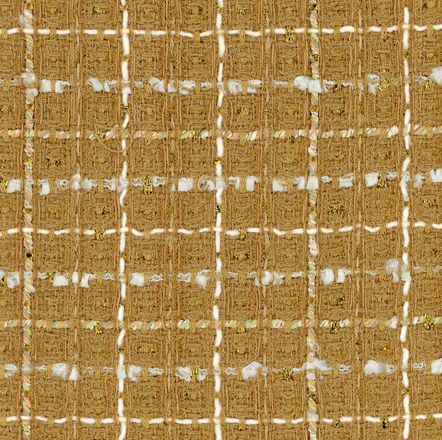 gold tweed fabric