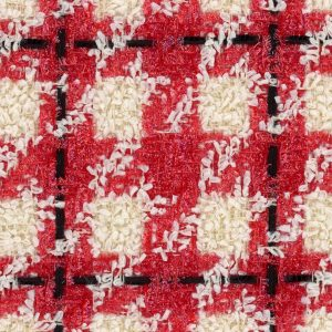red and cream fabric
