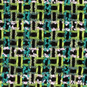 black and green tweed