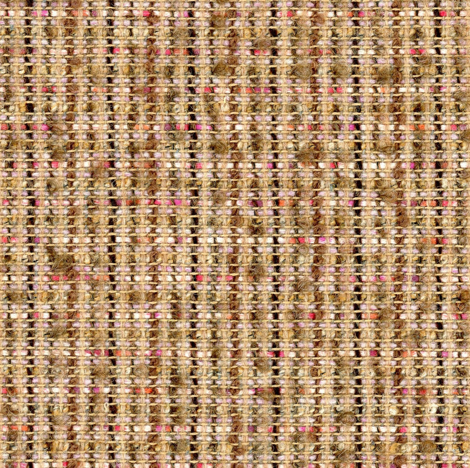 brown boucle fabric