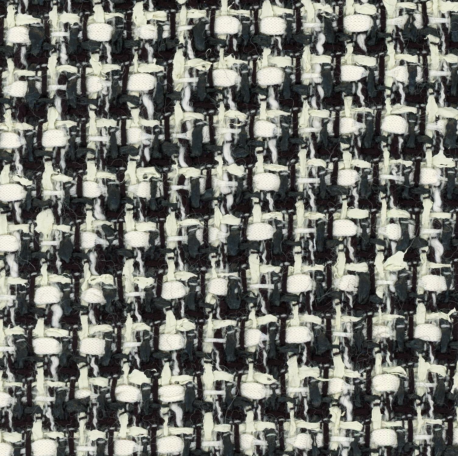 black and white tweed