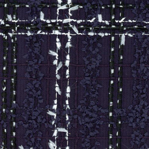 navy couture tweed