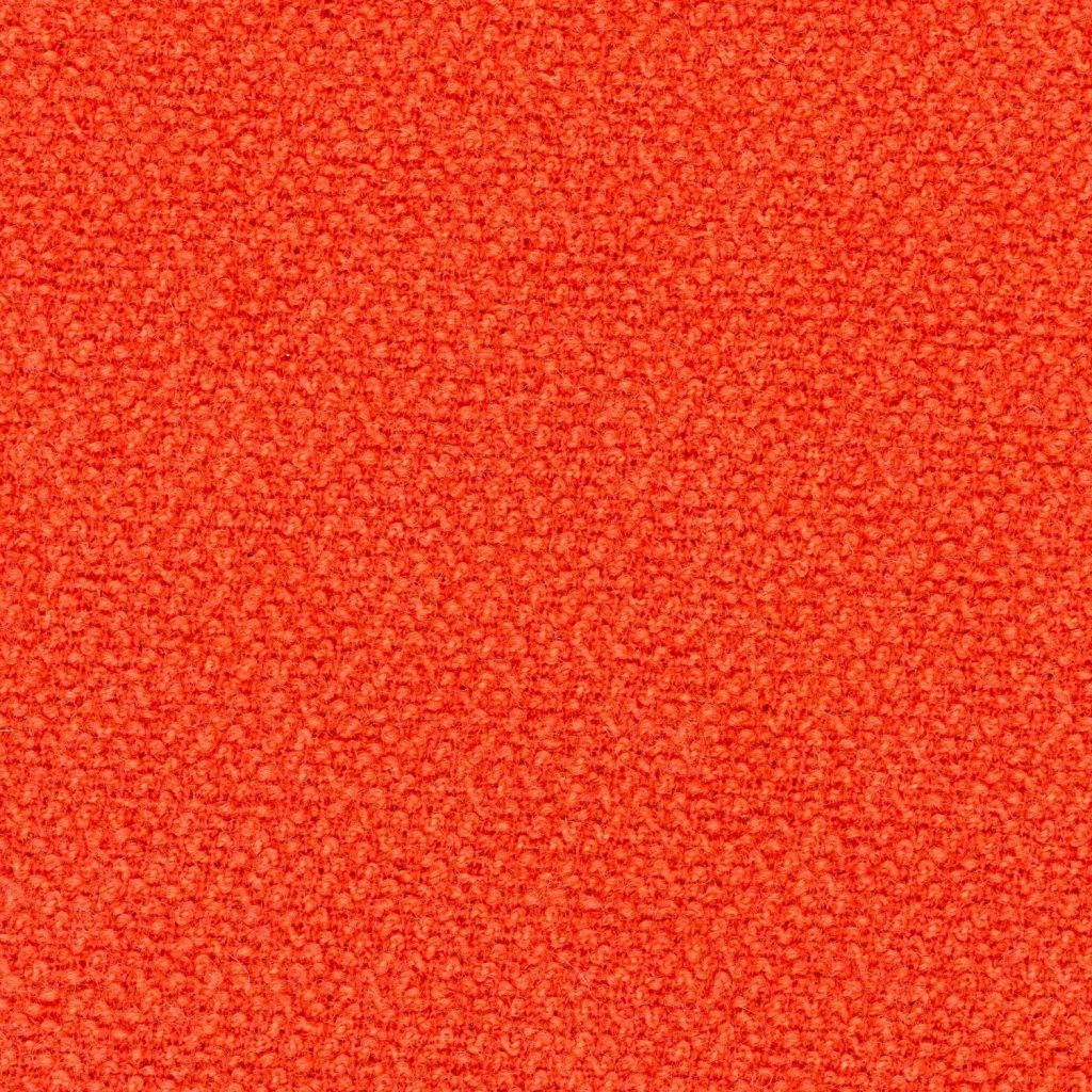 Orange wool fabric